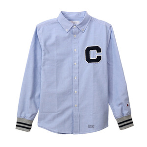 "Long Sleeve Button Down Shirts C3-J421 ""Blue(340)"""