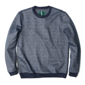 "OOPARTS Crew-Neck Wool Sweatshirt ""Blue"""
