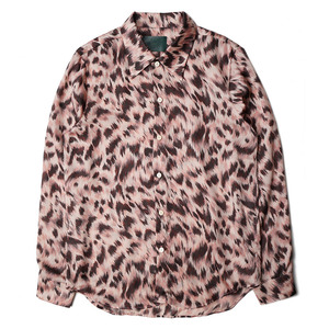 "OOPARTS Leopard Print Rayon Shirt	 ""Pink"""