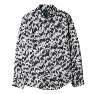 "OOPARTS Leopard Print Rayon Shirt ""Black"""