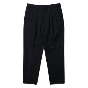 "OOPARTS Two-Tuck Bonded Trousers ""Black"""