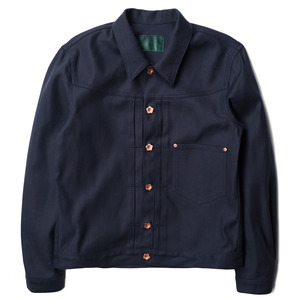 "OOPARTS Oxford Dyed Trucker Jacket ""Navy"""