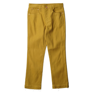 "OOPARTS Straight-Cut Oxford Dyed Jeans ""Mustard"""
