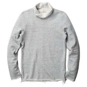 "OOPARTS Roll-Neck Cotton Jersey Sweatshirt ""Grey Melange"""