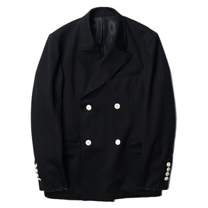 "OOPARTS Bonded Double-Breasted Jacket ""Black"""