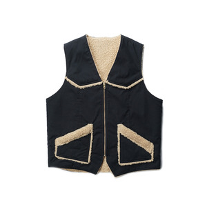 "Teddy / Duck Vest - Reversible ""Black"""