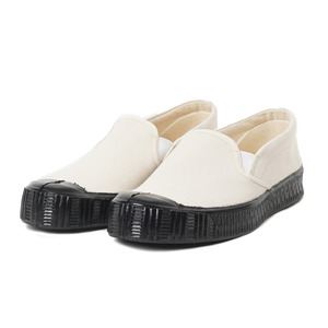 Army Slipon Off White Canvas/Black