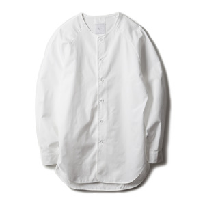 "OPT17SSSH02WT Tarifa Collarless Raglan Shirt ""White"""
