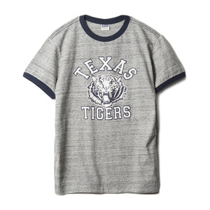 "CH77654 Texas Tigers Ringer Tee ""113 H.Grey"""