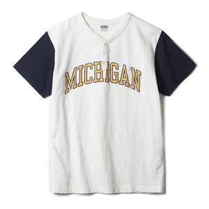 "CH77657 Michigan Henley Neck Tee ""101 White"""