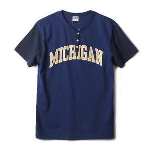 "CH77657 Michigan Henley Neck Tee ""126 Royal"""