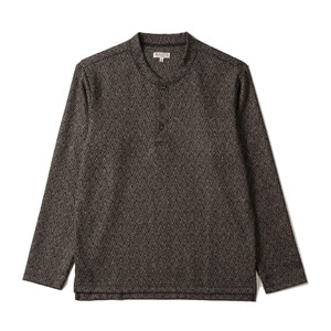 "BANTS TJA Wool Henley-neck Sweater ""Brown"""