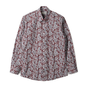 "BANTS TJA Paisley Cotton Shirt ""Red"""