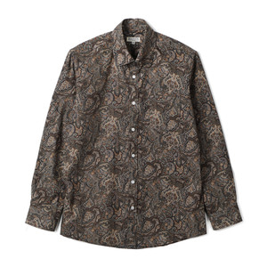 "BANTS TJA Paisley Cotton Shirt ""Black"""