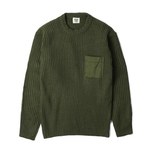 YMCL KY US Type Commando Sweater with Pocket 'Olive'