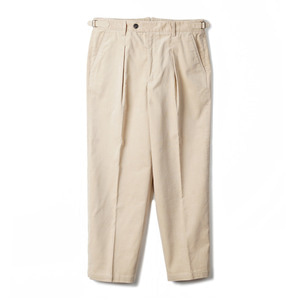 "BANTS TJA Corduroy One-tuck Pants ""L.Beige"""