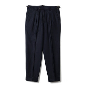 "BANTS TJA Wool One-tuck Pants ""Navy"""