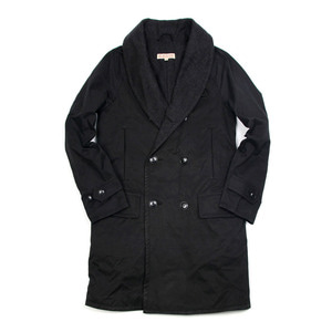 "Shawl Collar Mackinaw Coat ""Black"""