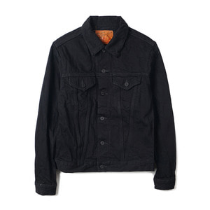 71955-99 Black x Black Denim Jacket 1955 3rd Type Model