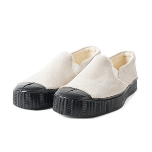 Army Slipon Off White Suade/Black