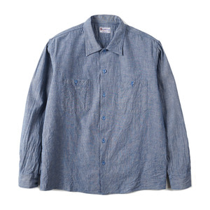 "BUZZ RICKSON'S BR27751 Blue Chambray L/S Work Shirt ""125 Blue"""