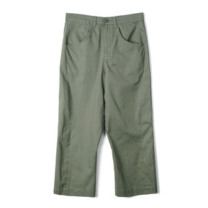 "OOPARTS OPT18SSPT01OL Engineered Cropped Pants ""Olive"""