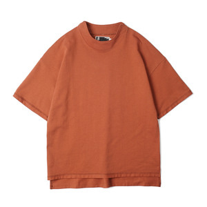 "OOPARTS OPT18SSTP06BR High Neck Detail T-Shirt ""Brick Red"""