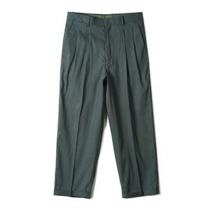 "OOPARTS OPT18SSPT02GR Two Pleat Classic Pants ""Green"""