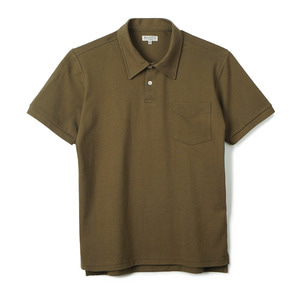 "BANTS GTB Cotton Pique Polo Shirt Half ""Olive"""
