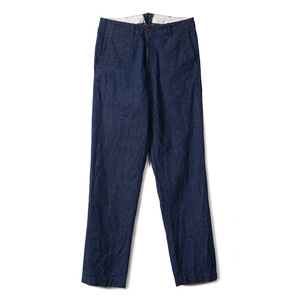 "BURGUS PLUS Zip fly Military Chino Trousers 402-13 ""Indigo"""