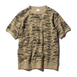"CHAMPION Campus Short Sleeve Sweat C3-H324 ""Camel(780)"""