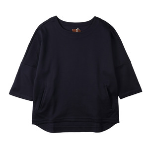 "OOPARTS OPT16SSTS05 Drop Sleeve T-Shirts ""Navy"""