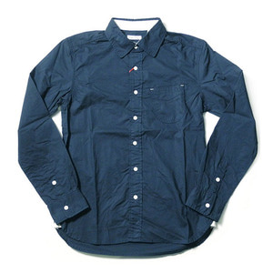"BURGUS PLUS BP14504 L/S One Pocket Poplin Shirts ""Blue"""