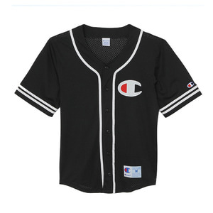 "CHAMPION Action Style Baseball Shirts C3-H365 ""Black(070)"""