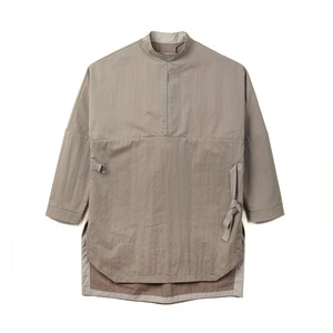 "OOPARTS OPT18FWSH03KH Reversible pullover shirt ""Khaki"""
