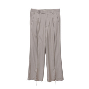 "OOPARTS OPT18FWPT04MU Center Slit Wool Pants ""Mushroom"""