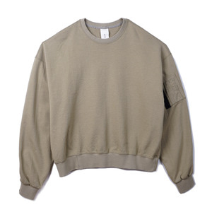 "OOPARTS OPT18FWTS01BE MA-1 cotton jersey sweatshirt ""Beige"""