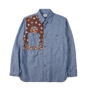 "OAXACA Chambray Bandana Shirt ""Blue/Brown Bandana"""