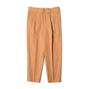 "BEHEAVYER BHR Two Pleated Crop Pants ""Brown"""