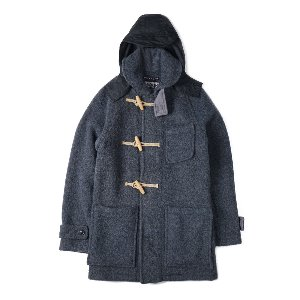 "LONDON TRADITION Sailor Collar Long Duffle	Coat LT/100 ""Grey/Royal"""
