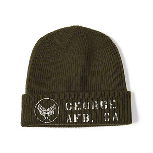 "BUZZ RICKSON'S A-4 Mechanic Cap Stencil George AFB ""Olive"""