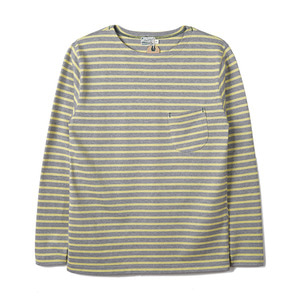 "BURGUS PLUS HBP-014BD L/S Basque Shirt ""Yellow x Grey"""