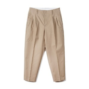 "OOPARTS  OPT18FWPT01KH Carrot-fit Classic Pants ""Khaki"""