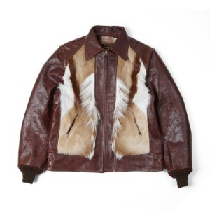 SUGAR CANE SC80519 Spring Box x Horsehide Sports Jacket