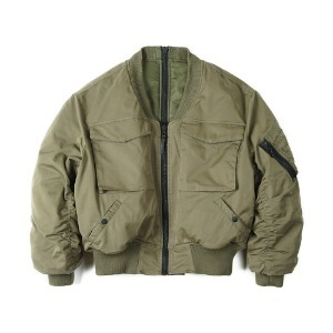 "OOPARTS OPT18FWJK01OL Reversible MA-1 Jacket ""Olive"""