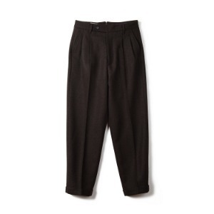 "BANTS BTS Tweed Wool Two-tuck Pants ""Brown"""