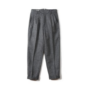 "BANTS BTS Tweed Wool Two-tuck Pants ""Grey"""