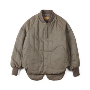 "OOPARTS Quilted Zipper Pullover ""Olive PK"""