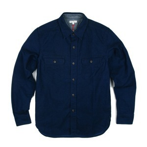 BURGUS PLUS BP14506 L/S Indigo Flannel Shirts