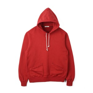 "BURGUS PLUS Over Dyed Hoodie ""Red"""